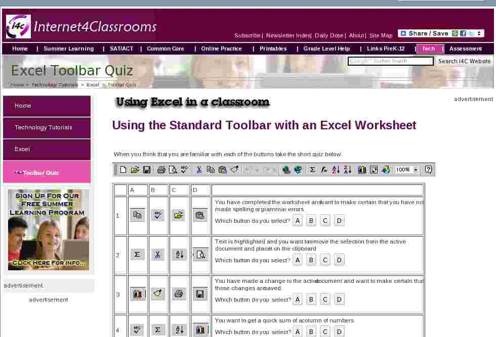 take a quiz about using the standard toolbar with an excel worksheet. Black Bedroom Furniture Sets. Home Design Ideas