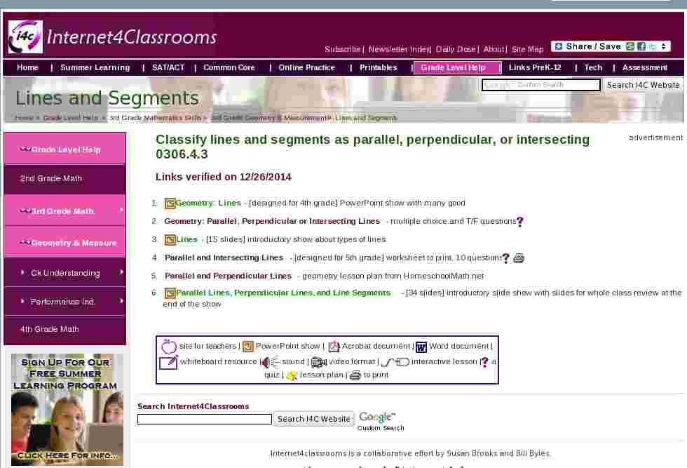 Lines & Segments | Geometry & Measurement Third Grade Math Standards