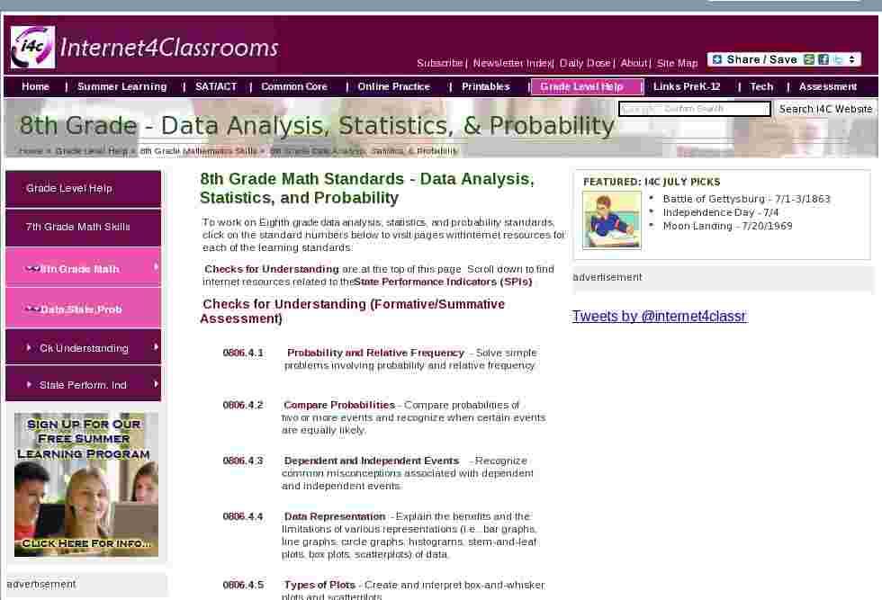 data analysis statistics probability eighth grade math standards. Black Bedroom Furniture Sets. Home Design Ideas