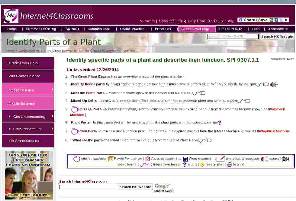 Common Core State Standards at Internet 4 Classrooms 6927987 - laana ...