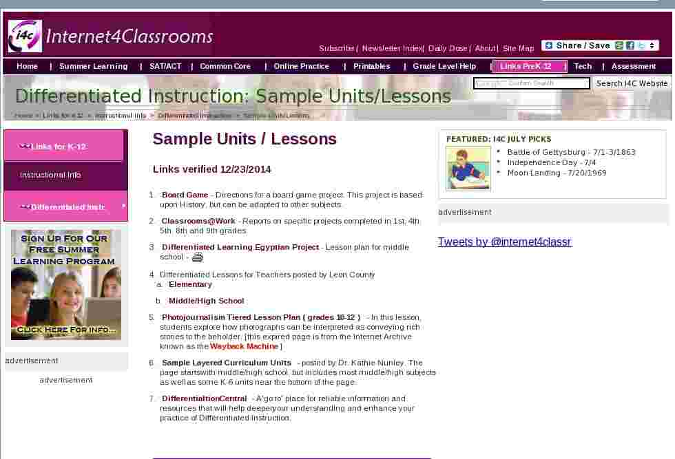 sample lesson plan with differentiated instruction