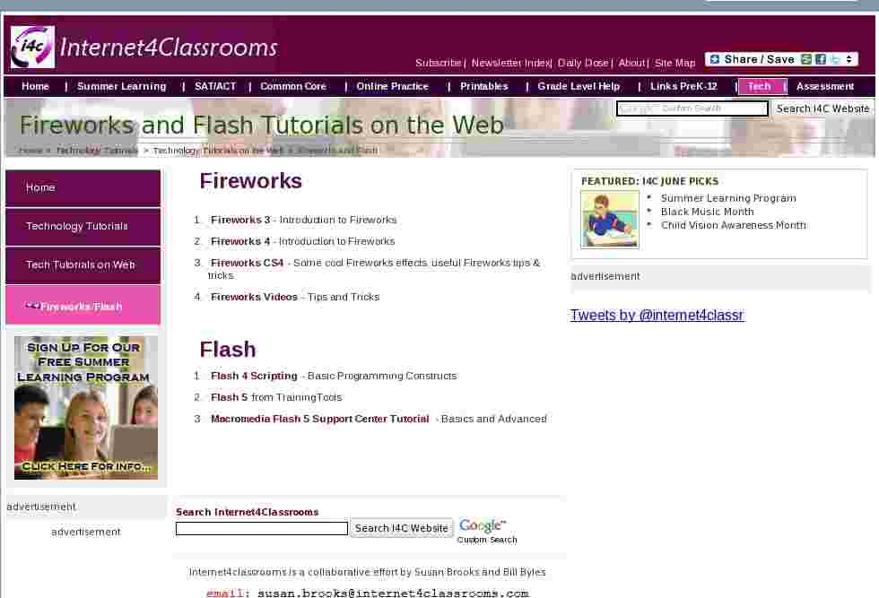Fireworks And Flash Tutorial Sites Resources From Around