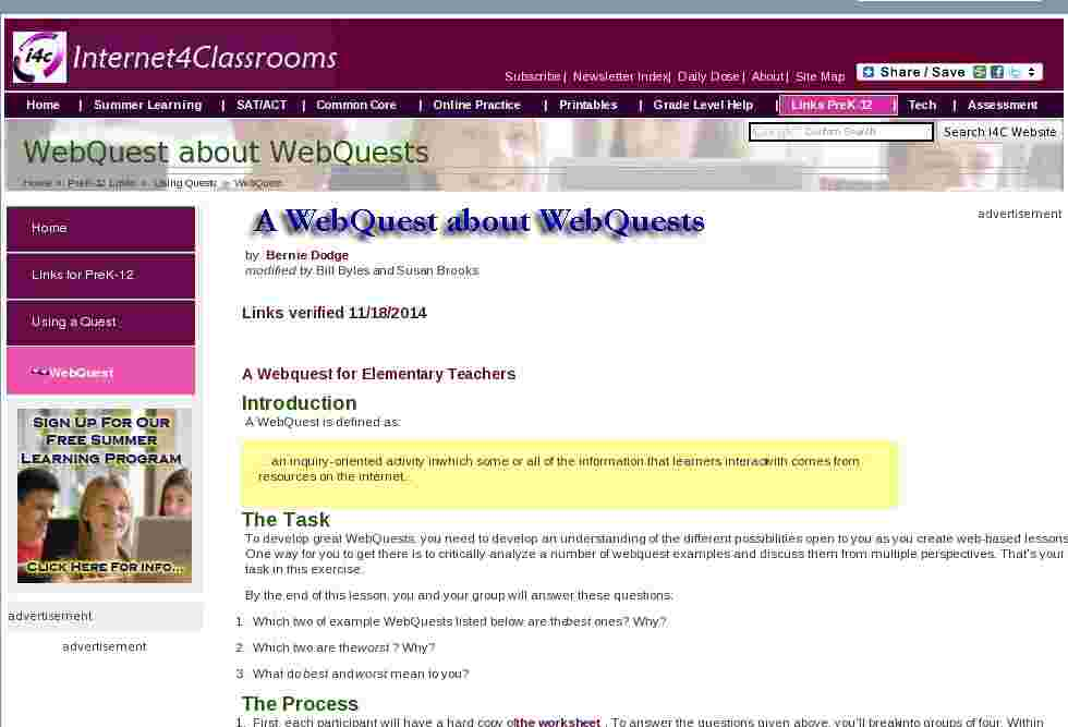 a webquest about webquests. Black Bedroom Furniture Sets. Home Design Ideas