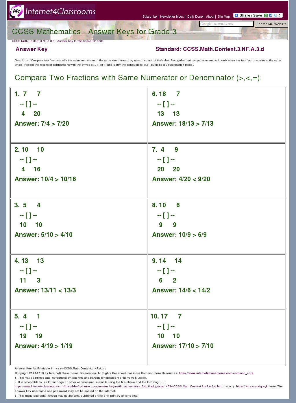 Answer Key Download - Worksheet #14534. CCSS.Math.Content ...