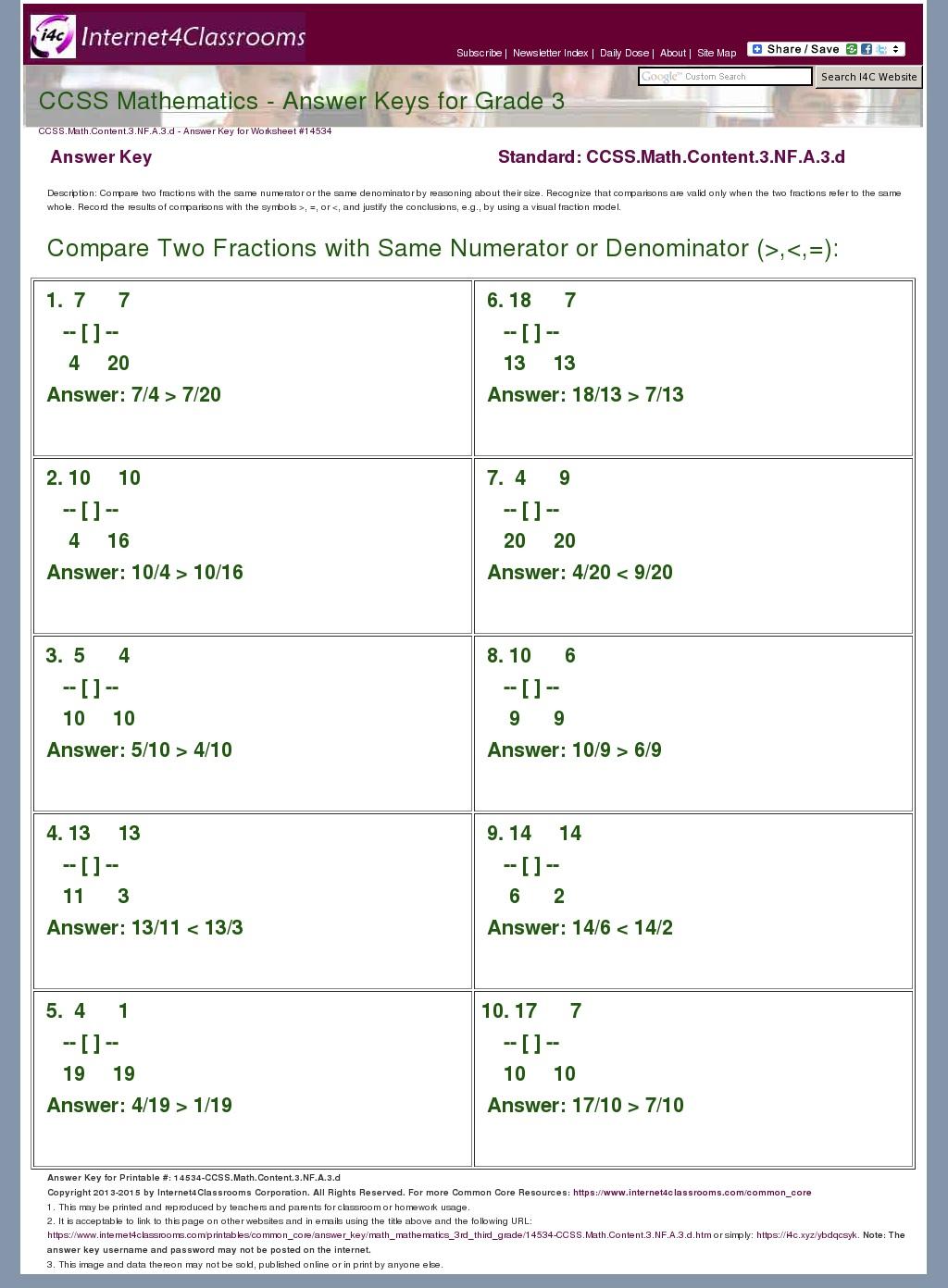 Answer Key Download - Worksheet #14534. CCSS.Math.Content ...