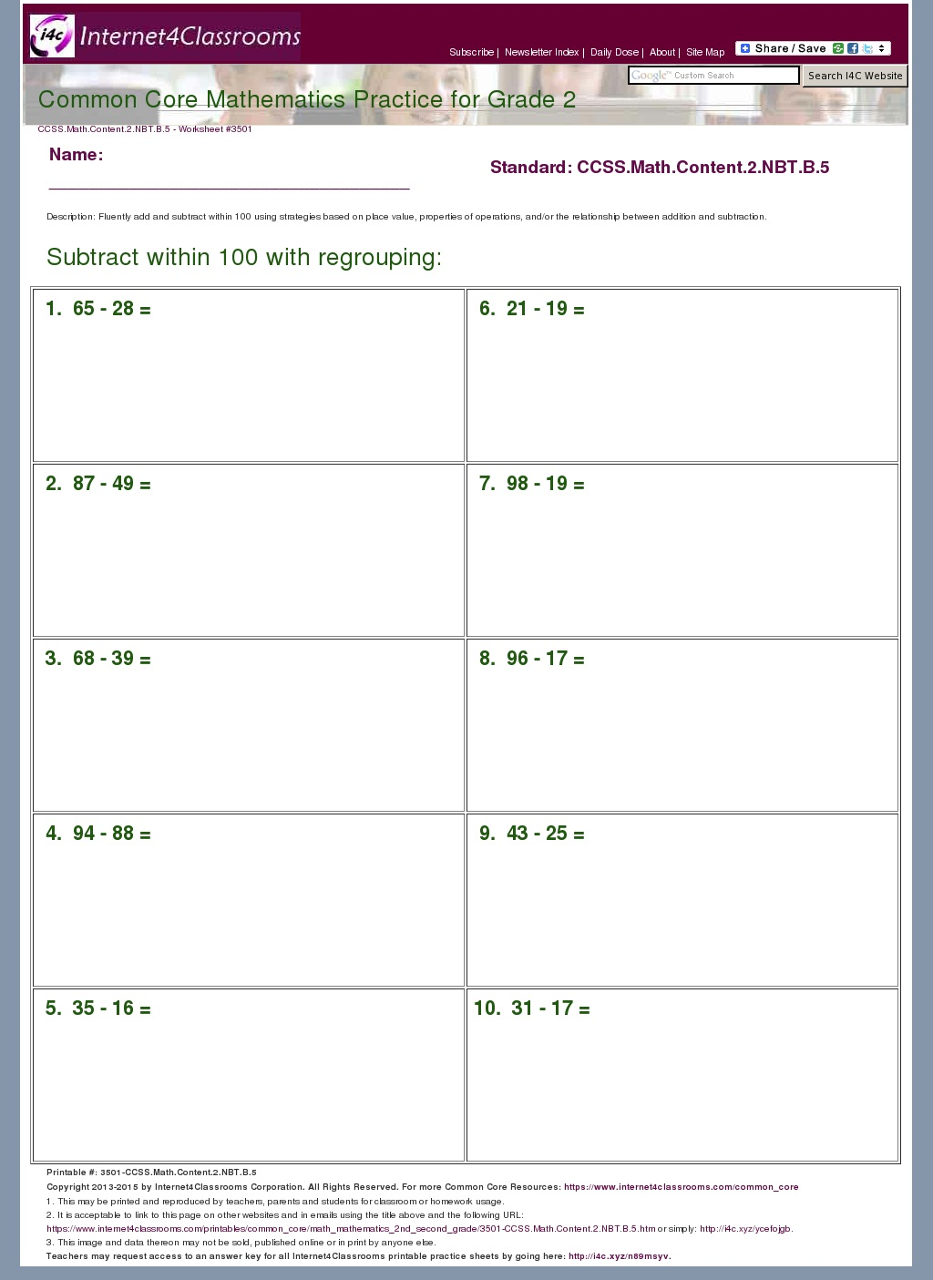 5 Nbt 5 Worksheets - Rringband