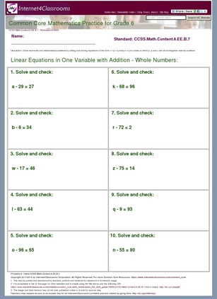 Descriptiondownload Worksheet 16904 Ccssthntent6b7