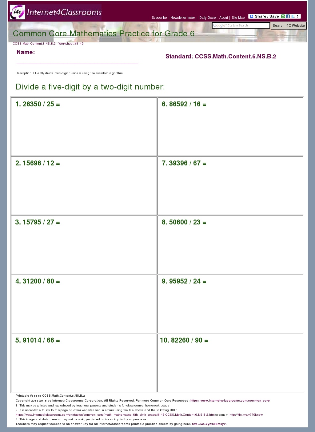 worksheet Common Core 6th Grade Math Worksheets common core grade 6 math practice worksheets templates and printable worksheet for 6th html standard ratios dec thermometer kindergarten 1000 images about educational work