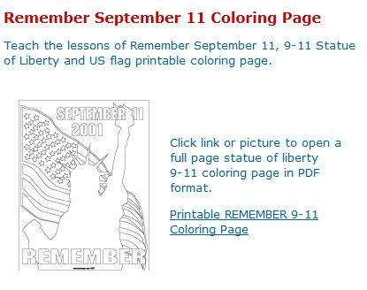 Remembering September 11 Coloring Pages | Murderthestout