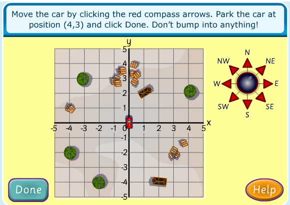 Fourth Grade Interactive Math Skills - Coordinate Plane