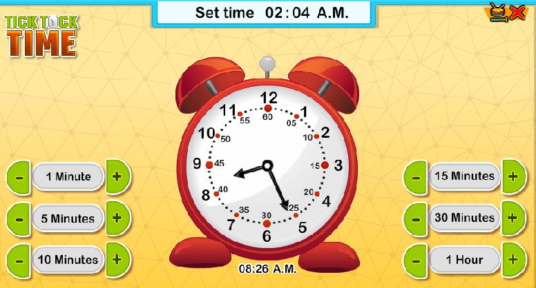 First Grade Interactive Math Skills - Telling Time