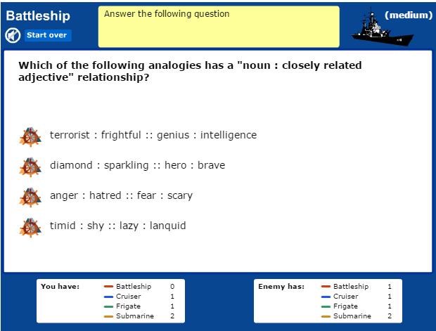 Seventh Grade Language Skill Builders Analogies