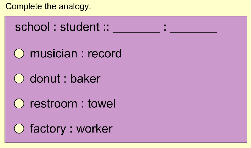 Analogy worksheet for grade 7
