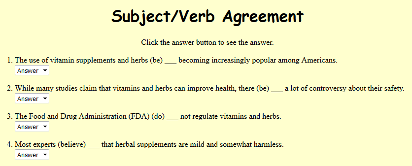 All Worksheets Subject Verb Agreement Pdf Worksheets With – Subject Verb Agreement Worksheet with Answers