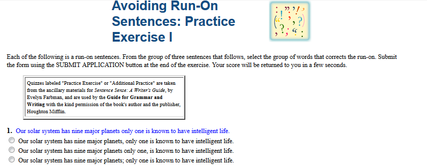 Sixth Grade Language Skill Builders Sentence Problems – Fragments and Run Ons Worksheet