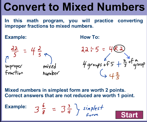 how to write a mixed number