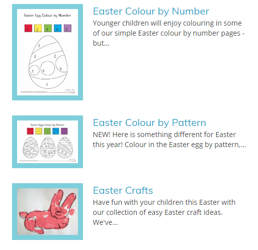 Click Image To Enlarge Activity Village Has A Huge Selection Of Easter Activities