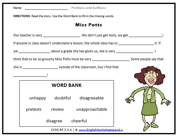 Root Suffix Prefix Second 2nd Grade Skill Builders Language – Prefix and Suffix Worksheets