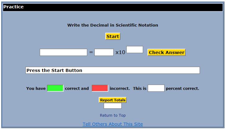 Seventh Grade Interactive Math Skills - Exponential Notation