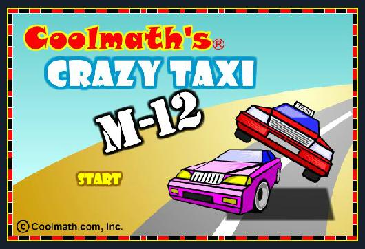 Crazy taxi math game
