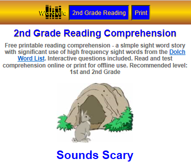Comprehension -Second (2nd) Grade Skill Builders Language Arts at I4C