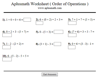 An Interactive Worksheet With Ten Problems. Answers Available. SEE MORE.  11. Order Of Operations.