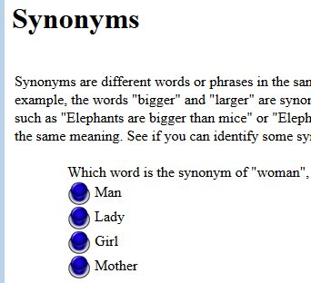 Click On The Blue To Identify Synonyms In Four Questions Are Diffe Words Or Phrases Same Language That Have A Similar
