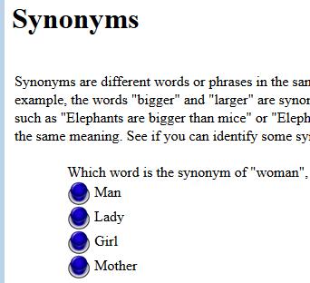 Third Grade Language Skill Builders - Synonyms