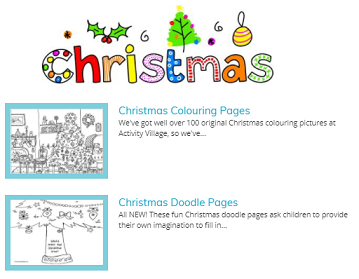 Christmas Activities at Activity Village - hundreds of free Christmas activities for kids SEE MORE