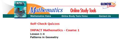 Seventh Grade Interactive Math Skills - Patterns