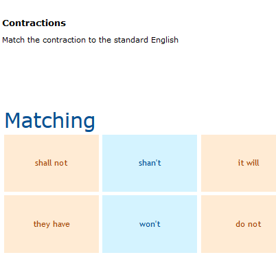 Third Grade Language Skill Builders - Contractions