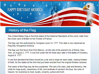 Click Image To Enlarge Short Facts About Flag