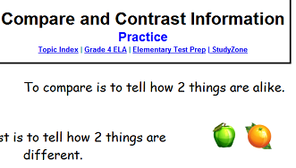 how to answer compare and contrast questions