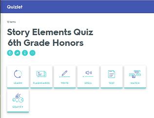 Sixth Grade Language Skill Builders - Story Elements