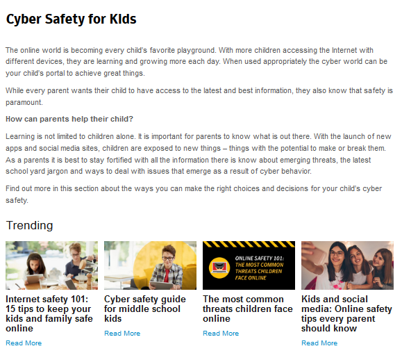 Internet Safety for Parents and Children at Internet4Classrooms