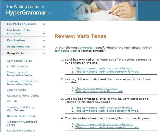 Seventh Grade Language Skill Builders - Verbs