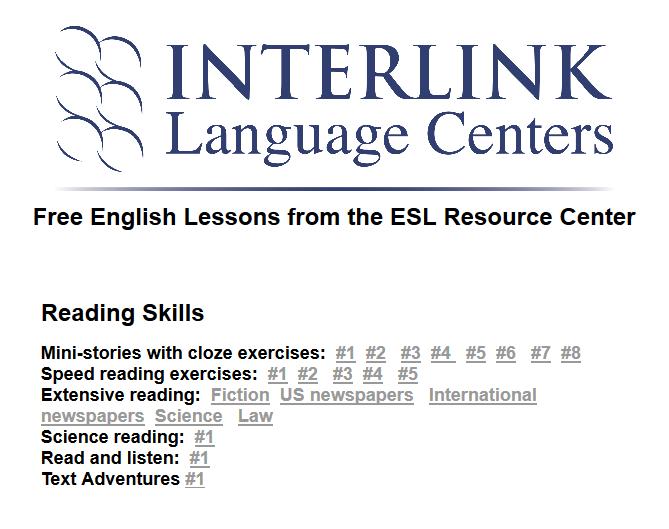 Seventh Grade Language Skill Builders - Online Reading Skills