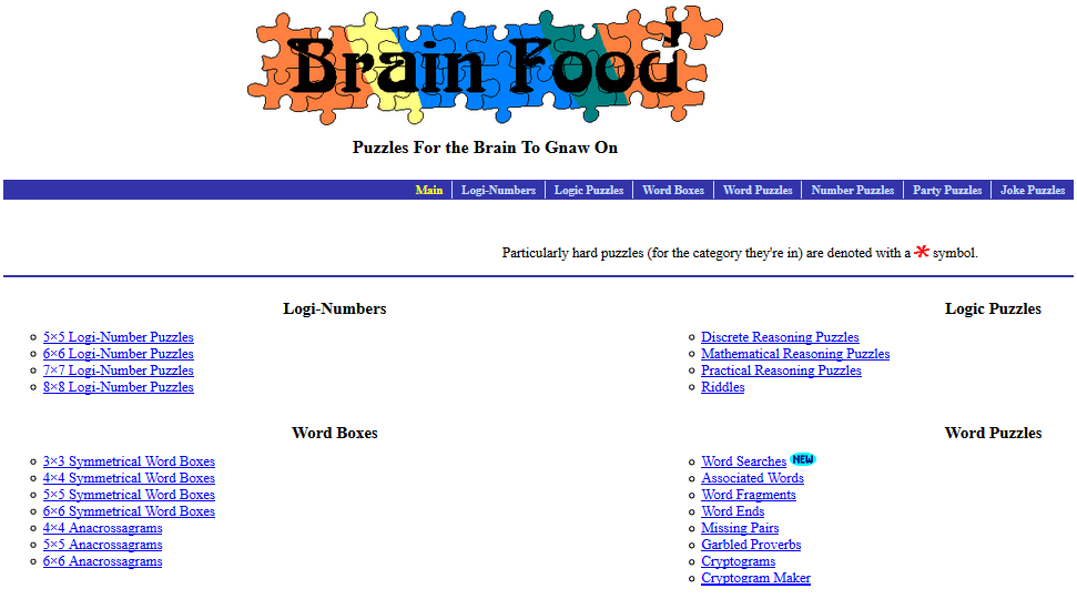Brain Teasers | Daily Dose at Internet 4 Classrooms