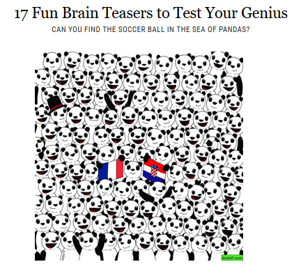 graphic about Visual Brain Teasers Printable titled Head Teasers Day-to-day Dose at Web 4 Clrooms