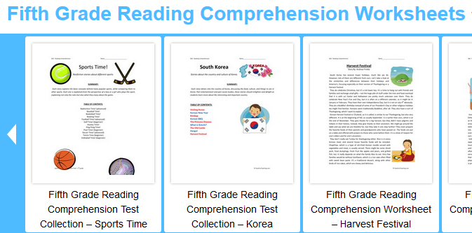 Fifth Grade Language Skill Builders Reading Comprehension