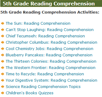 Fifth Grade Language Skill Builders - Reading Comprehension