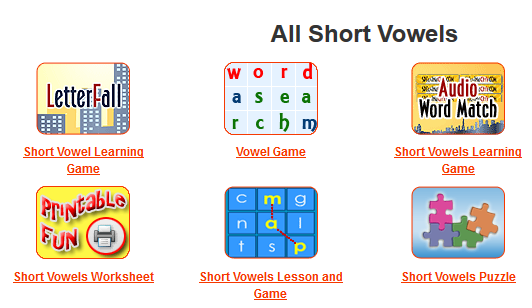 image relating to Printable Short Vowel Games identified as Vowels -Minute (2nd) Quality Ability Developers Language Arts at I4C